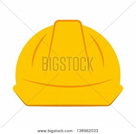 helmet worker security icon graphic isolated vector