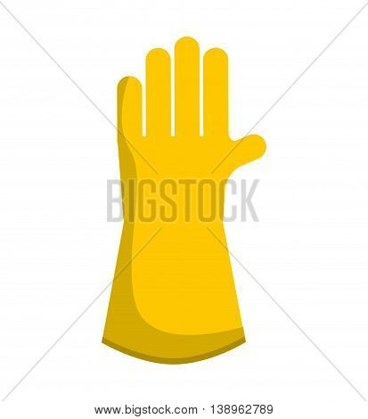 gloves worker security icon graphic isolated vector