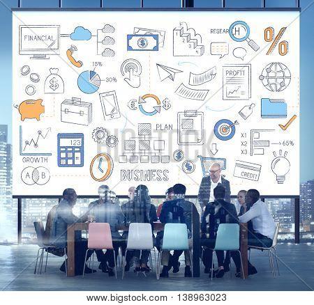 Business Plan Budget Target Tactics Ideas Concept