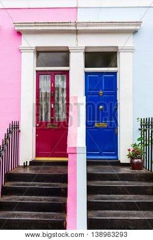 Row Houses In Notting Hill, London