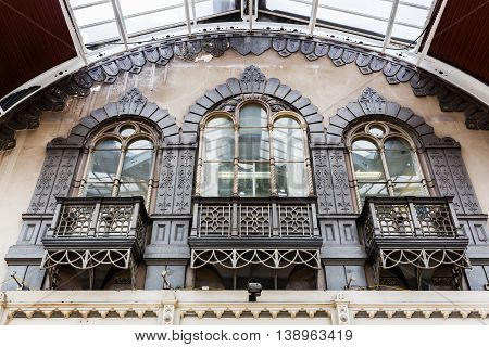 Building Detail Of The Paddington Station, London
