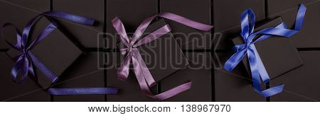 Many beautiful boxes for jewelry with pink bow