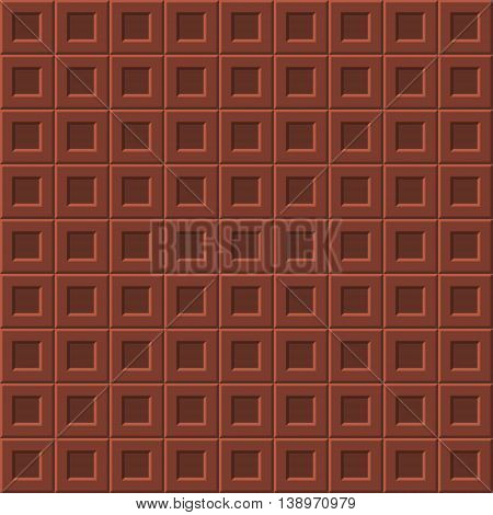 Seamless pattern with milk chocolate realistic bar