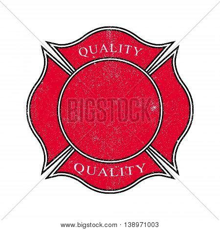 Grunge banner, label. Distressed frame. Vintage badge.