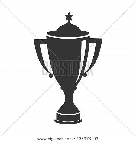 trophy cup first place , isolated flat icon