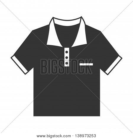 Polo tshirt wear isolated flat icon vector illustration