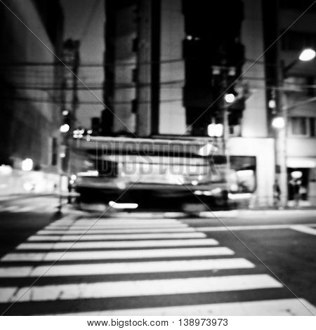 Trolley Bus Public Transportation Street Traveling Concept