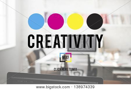 Creativity Color Imagination Creating Process Concept