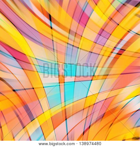 Abstract Technology Background Wallpaper. Stock Vectors Illustration. Yellow, Orange, Blue Colors.