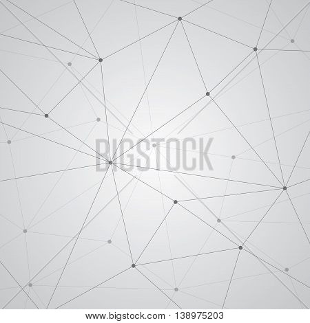 Abstract vector background, geometry wallpaper, triangles, lines and points