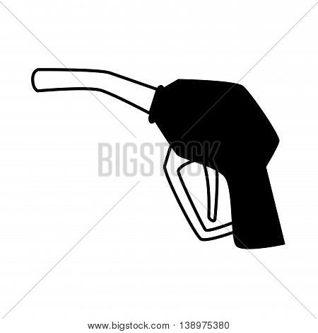 fuel dispenser machine black and white colors isolated flat icon