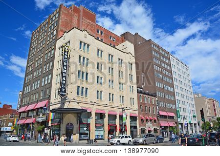 MONTREAL QUEBEC CANADA JULY 15 2016: Archambault, is the largest music retailer in the province of Quebec and the largest French language retail site in North America.