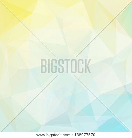 Polygonal Light Background. Can Be Used In Cover, Book Design, Website Backdrop. Vector Illustration