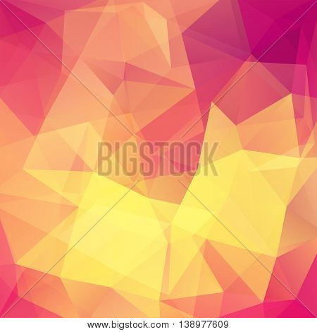 Polygonal Background. Can Be Used In Cover Design, Book, Website Backdrop. Vector Illustration. Pink