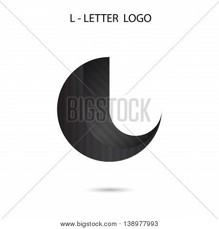 Creative L-letter icon abstract logo design.L-alphabet symbol.Vector illustration