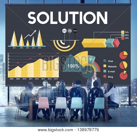 Solution Percentage Business Chart Concept