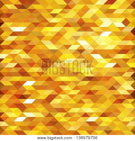 Isolated abstract golden lowpoly designed vector background. Polygonal elements backdrop. Translucent overlays wallpaper. Decorative tile illustration.