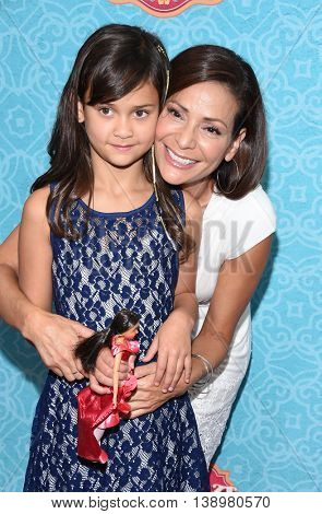 LOS ANGELES - JUL 16:  Constance Marie & Luna Marie Katich arrives to the Disney Channel's