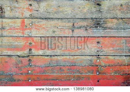 Old, red, weathered, authentic, textured barn wood background.