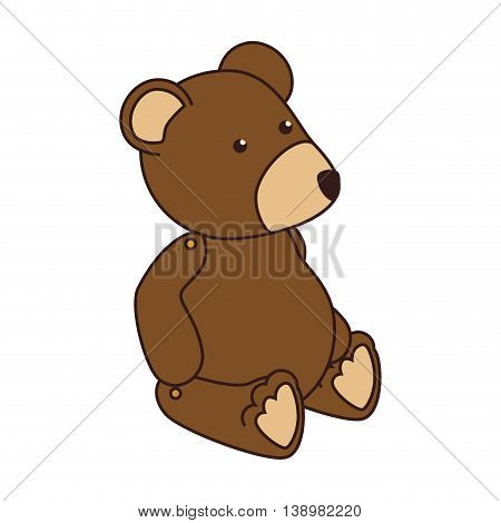 teddy bear kid , colorful isolated flat icon