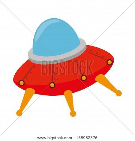 UFO kid toy , black and white isolated flat icon