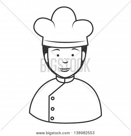Chef hat man , isolated flat icon cartoon