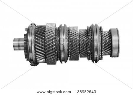 component automotive box isolated under the white background