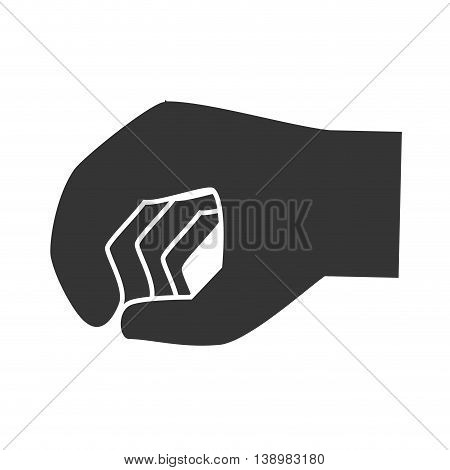 Hand clenched sign , isolated flat icon design