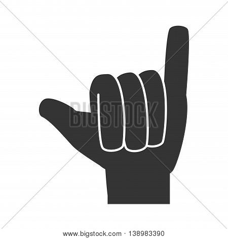 hand sign language, isolated flat icon design