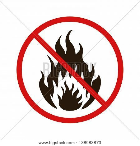 No fire forbidden sign isolated on white