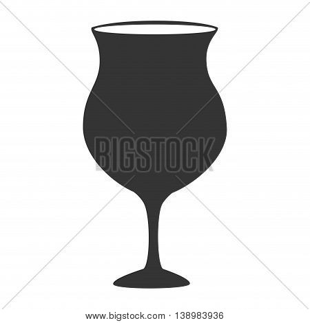 Wine glass cup, isolated flat icon design.