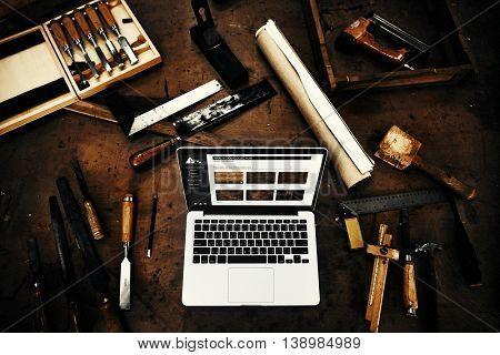 Woodwork Timber Workshop Expertise Craftsman Concept