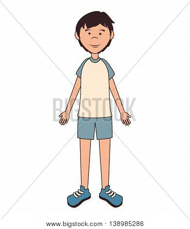 Teenager boy cartoon, isolated flat icon design.