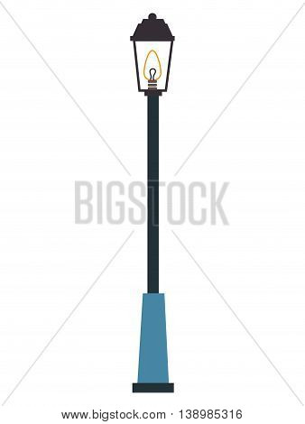 streetlight light city, isoaled flat icon design.