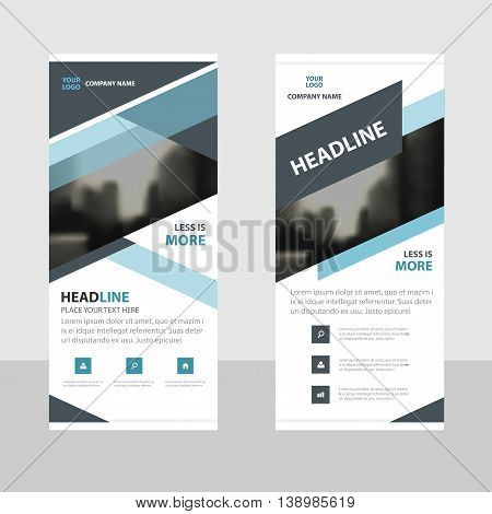 Blue black abstract Business Roll Up Banner flat design template Abstract Geometric banner template Vector illustration set abstract presentation brochure flyer template vertical template vector