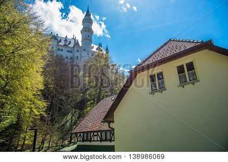 Scenic View of Neuschwanstein Castle - Germany