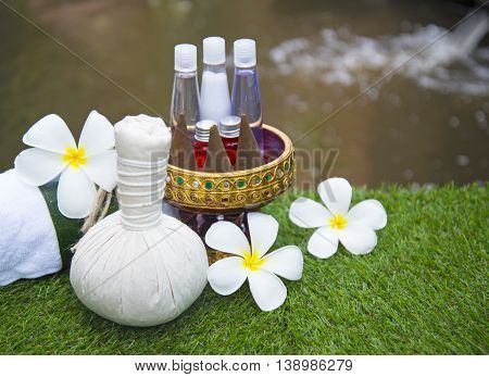 Spa treatment and massage, Thailand, soft focus