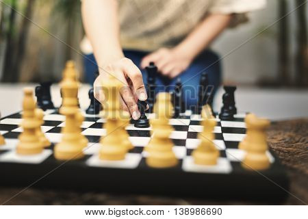 Chess Game Thinking Hobbies Leisure Concept