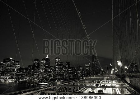 The Brooklyn Bridge Famous Place Concept