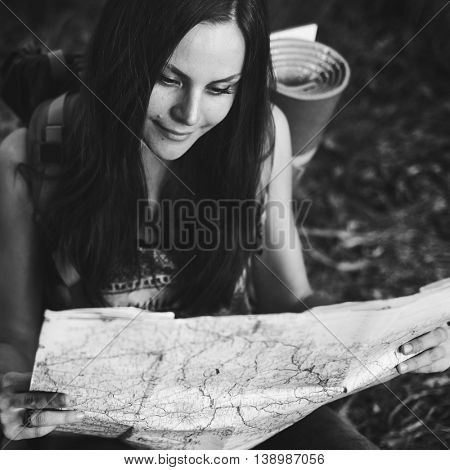 Map Direction Journey Wanderlust Explore Route Concept