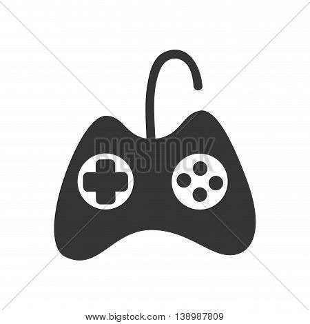 Portable videogame console with buttons and screen, vector illustration graphic.