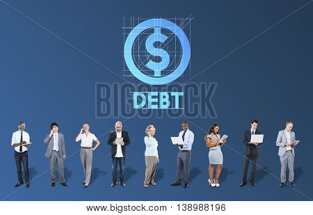 Debt Financial Money Technology Graphic Concept
