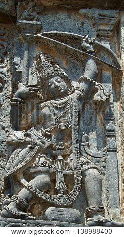 Matsya Bhedha; Arjuna Aiming At Fish Looking At Its Reflection