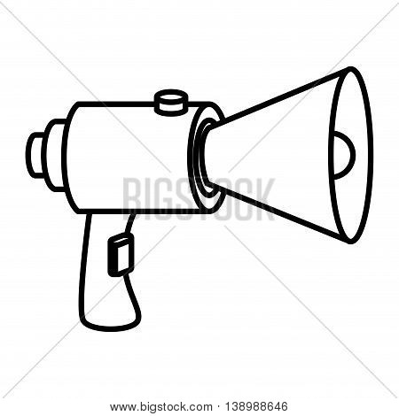 bullhorn megaphone advert, isolated flat icon design