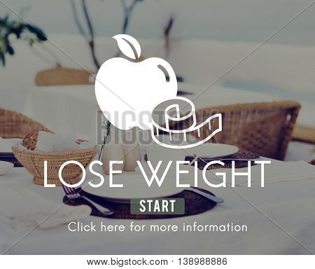 Lose Weight Balance Fitness Slim Diet Nutrition Concept