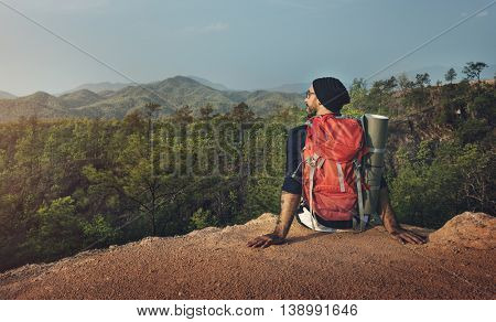 Hiking Trekking Adventure Journey Travel Destination Concept