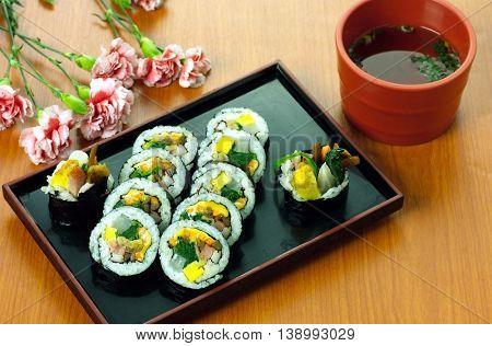 Korea's various rice roll