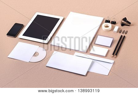 Photo. Template for branding identity. For graphic designers presentations and portfolios. Mock-up, mock up, mockup, branding, brand, template, identity, stationary, stationery