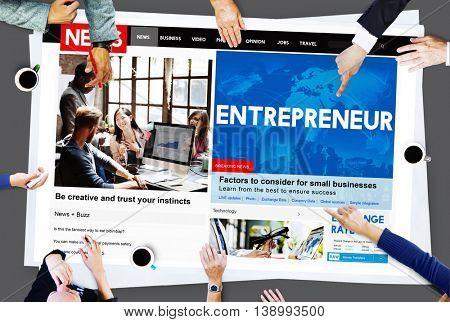 Entrepreneur Developer Business Dealer Risk Concept