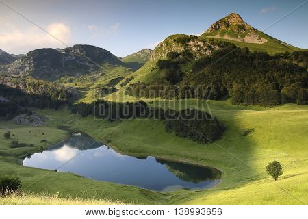 Orlovacko lake in Sutjeska national park Bosnia and herzegovina